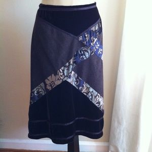 The Limited Crushed Velvet and Wool Midi Skirt